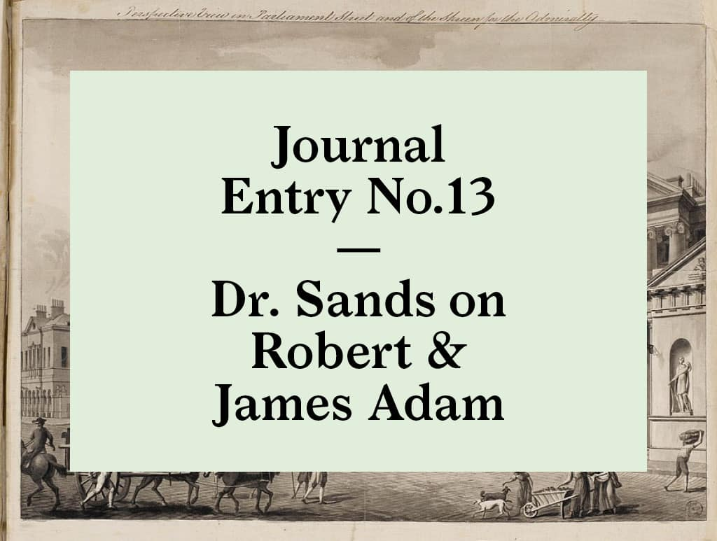 James and Robert Adam at the Soane Museum | Bearleader No.13-02
